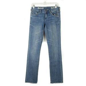 Madewell Medium Wash Rail Straight Jeans